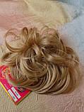 Резинка шиньон из волос соломенный 0215А-24В Global, фото 6