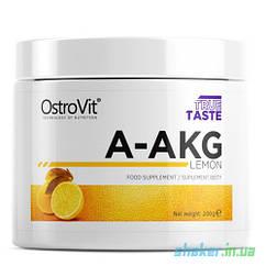 L-аргинин альфа-кетоглютарат OstroVit A-AKG  (200 г) аакг остовит lemon