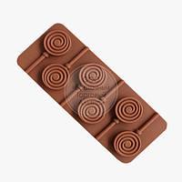Форма силиконовая для конфет Спираль