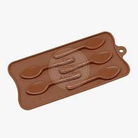 Форма силиконовая для конфет - Ложечки, фото 1