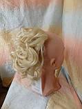 Шиньон-накладка на гребешках удлиненная блонд 902А-613, фото 5