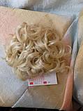 Шиньон-накладка на гребешках удлиненная блонд 902А-613, фото 7
