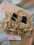 Шиньон-накладка на гребешках удлиненная блонд 902А-613, фото 6
