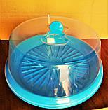 Тортовница с крышкой d- 310мм, пластик, цвета в ассортименте., фото 3