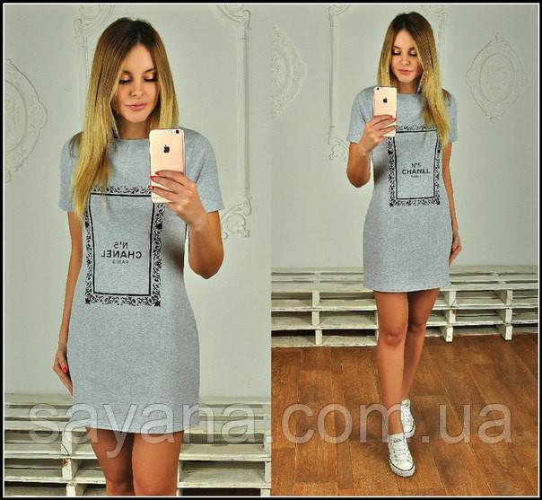 Женское платье с накаткой