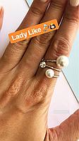 Кольцо из мед. стали Turkish Jewels имитация жемчуга