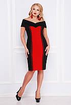 Женское платье цвет  черный /красный Аделина-Б б/р XL, XXL, XXXL, фото 3