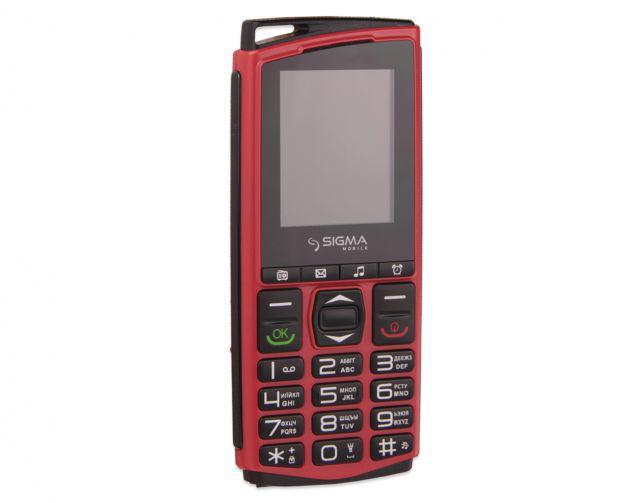 Кнопочный мобильный телефон Sigma Comfort 50 mini4 красный