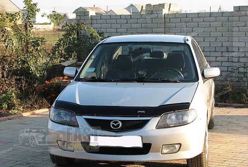 Дефлектор капота, мухобойка Mazda 323  S/F с 2000-2003 г.в. VIP