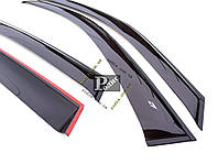 "Дефлекторы окон Chrysler Grand Voyager V 5d 2008-н.в. Cobra Tuning - Ветровики ""CT"" Крайслер Гранд Вояджер 5"