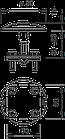 5405769 Блискавкоприймач грибоподібної форми із з'єднувачем, 128 F OBO Bettermann (Німеччина), фото 2
