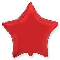 """Фольгований куля """"Зірка"""" червона 45 см, Flexmetal Іспанія"""