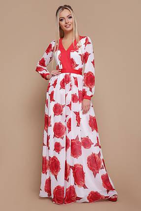 Женское платье Роза красная Каролина д/р, фото 2