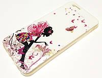 Чохол для iPhone 6 / 6s силіконовий з малюнком фея з блискітками білий