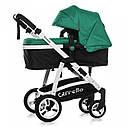 Универсальная коляска-трансформер зеленая Carrello Fortuna 9001 Basil Green деткам от рождения, фото 2