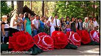 Надувные цветы на свадьбу