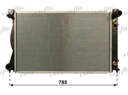 Радиатор охлаждения двигателя Audi A6 C6 (05-11) TDI, АКПП (NRF)