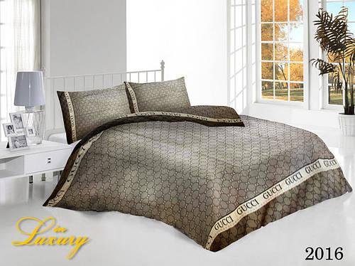 Семейный набор постельного белья «Gucci» | Комплект 5 предметов