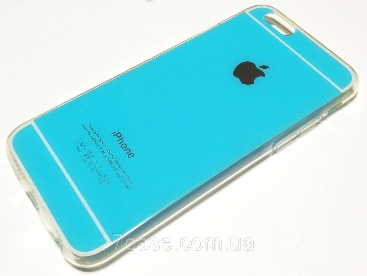 Чехол силиконовый для iPhone 6 / 6s голубой
