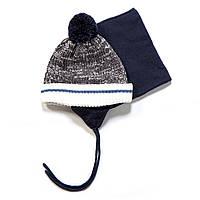 Зимний комплект: шапочка + манишка на мальчиков 3-9 лет (Р. 3/5, 6/8) ТМ Peluche&Tartine F17 ACC 61 EG