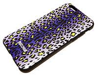 Чехол для iPhone 6 / 6s силиконовый с рисунком леопардовый голубой