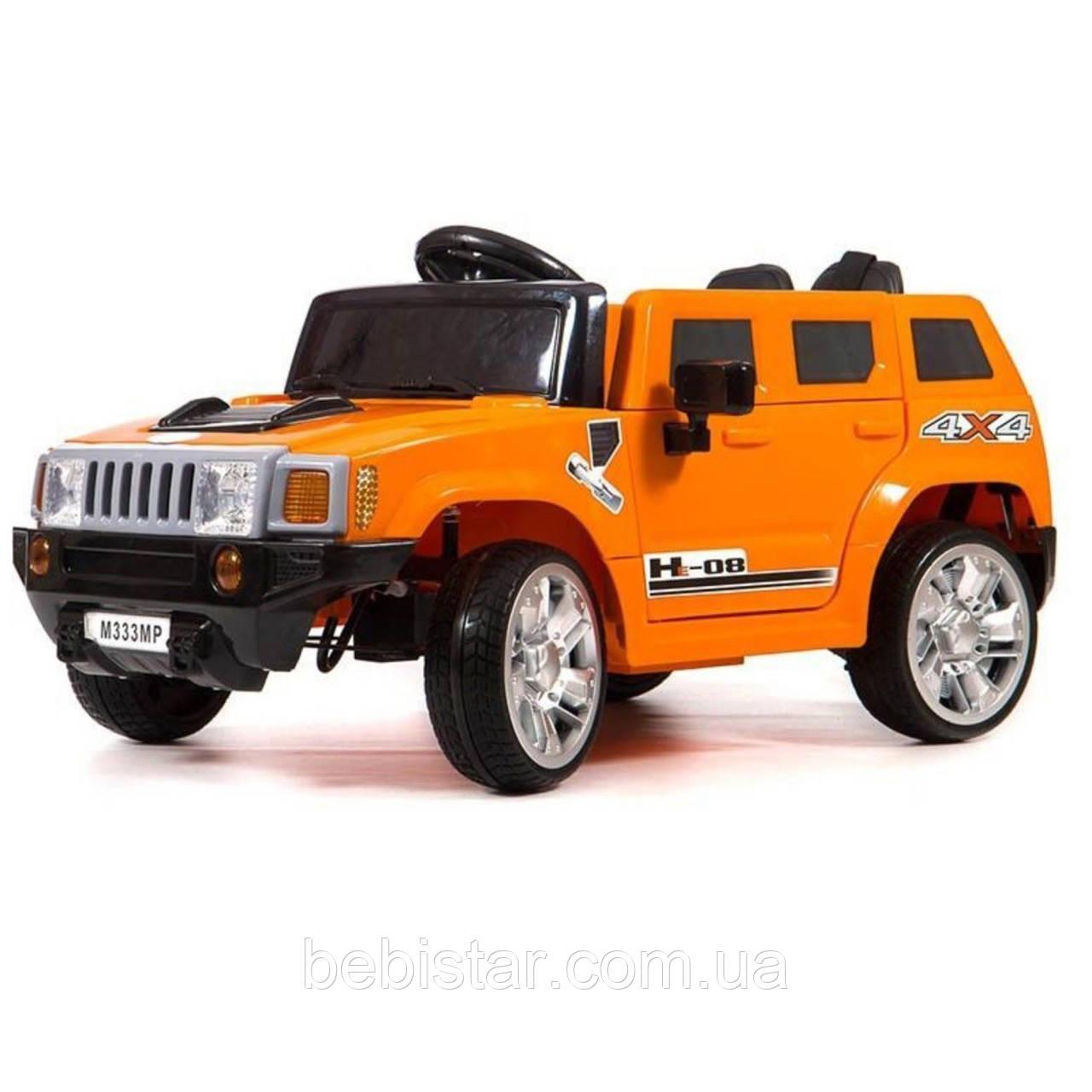 Детский электромобиль Джип T-7831 ORANGE мотор 2*25W аккумулятор 2*6V4,5AH с MP3