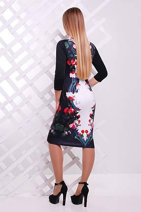 Цветы-птицы платье Лоя-3Ф д/р, фото 2