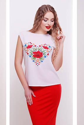 Цветы-сердце  ЖЕНСКАЯ футболка Киви б/р, фото 2