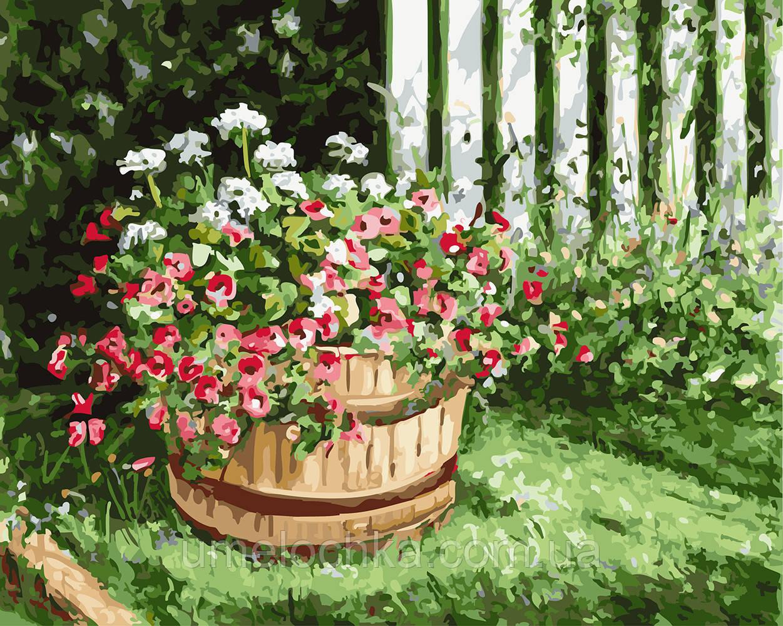 Раскраска для взрослых Цветочная клумба (BRM23509) 40 х 50 см 0
