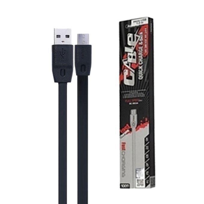 Кабель Remax Full Speed Micro USB flat 1M RC-001m Black