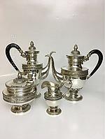 Старинный серебряный сервиз антикварное старинное столовое серебро антикварная мебель Антиквариат Украина Киев