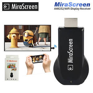 Беспроводной адаптер WI-FI MIRASCREEN, Screen mirroring USB дублирует экран смартфона или планшета на TV