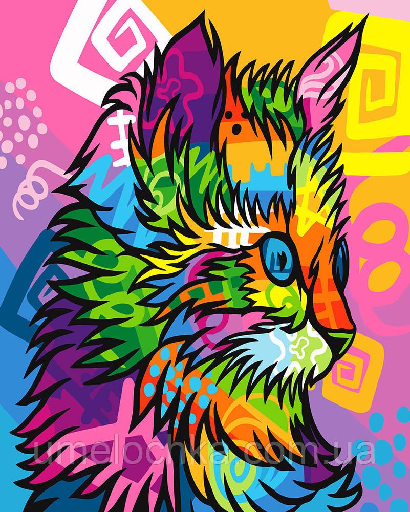 Картина по номерам Красочный кот (BRM23640) 40 х 50 см 0