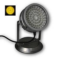 Світильник для ставка в металевому корпусі AquaFall QL-72 Y LED жовтий