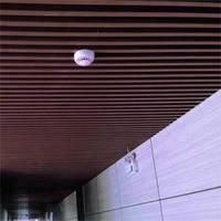 Кубообразный реечный подвесной потолок, рейка 50х50мм, шаг 50мм, цвет коричневый RAL 8017, 8019