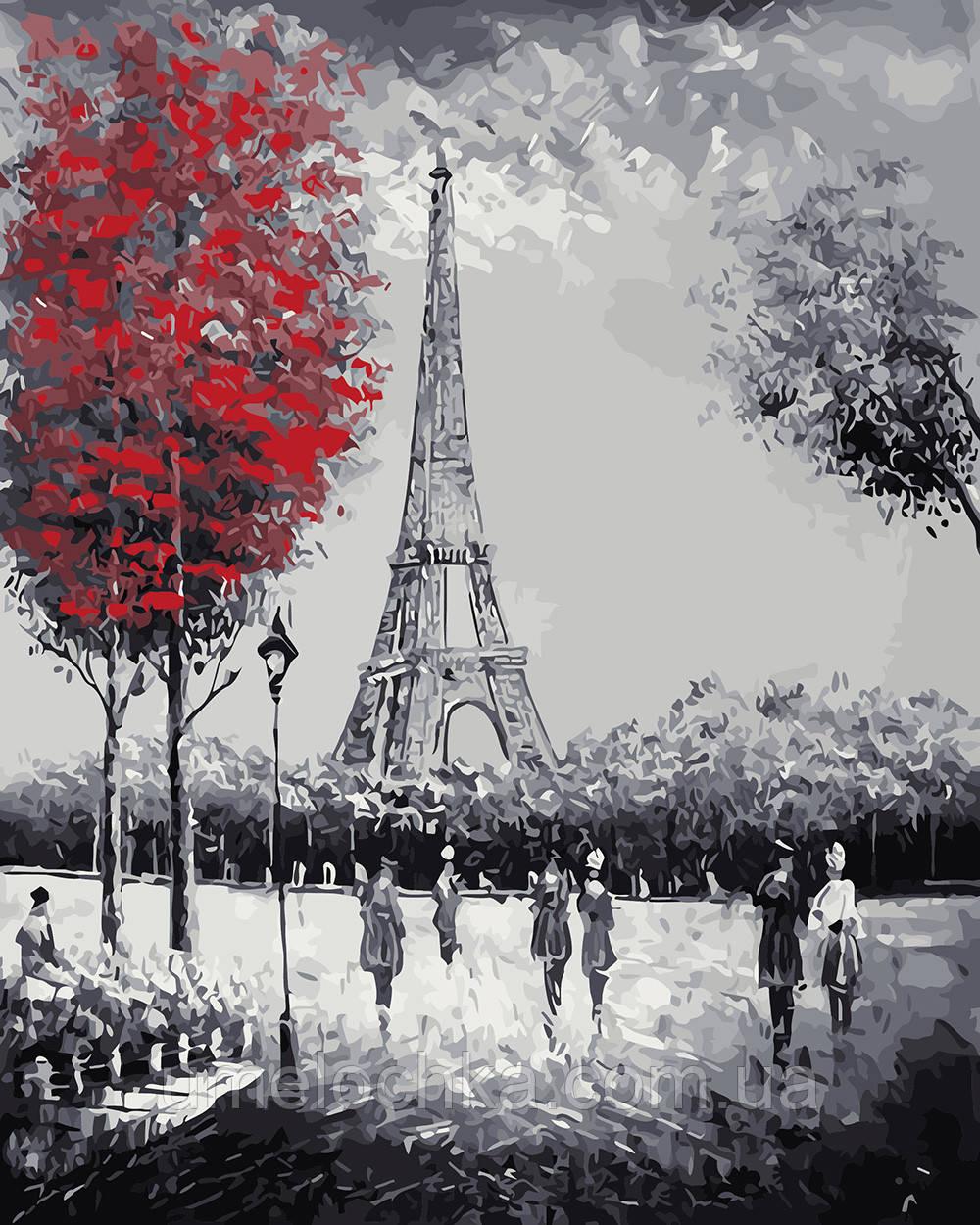 Картина по номерам Прогулка к Эйфелевой башне (BRM4058) 40 х 50 см 0