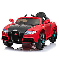 Электромобиль спорткар T-7627 RED для деток 3-8 лет с пультом мотор 2*25W аккумулятор 2*6V4,5AH MP3