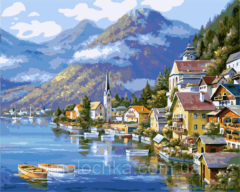 Раскраска для взрослых Живописная Австрия (BRM6936) 40 х 50 см 0