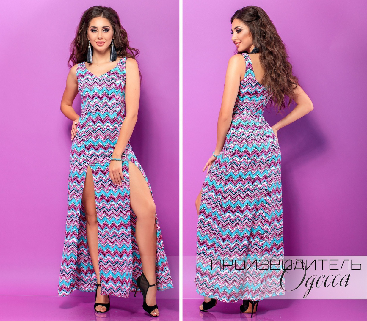 Женское платье  Узоры
