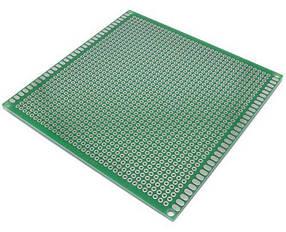 Макетная плата из текстолита 100х100 мм односторонняя
