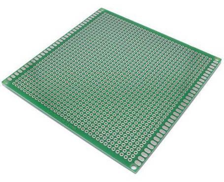 Макетная плата из текстолита 100х100 мм односторонняя, фото 2