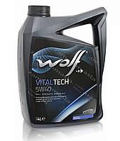 Wolf VITALTECH 5W40 4л - моторное масло, фото 1