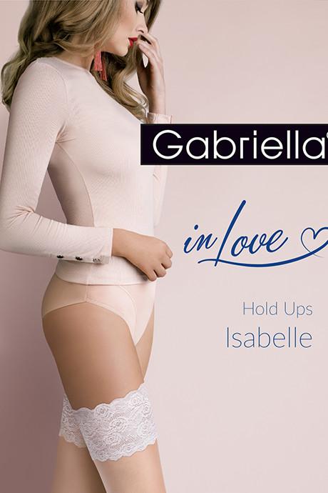 Чулки Gabriella Isabelle 20 den с самоудеживающимся кружевом (14 см) Телесно-шампань