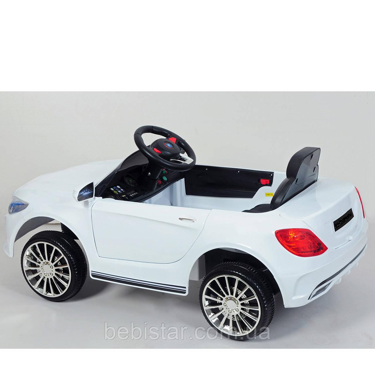 Электромобиль детский белый Джип T-7620 EVA WHITE для деток 3-8 лет с MP3