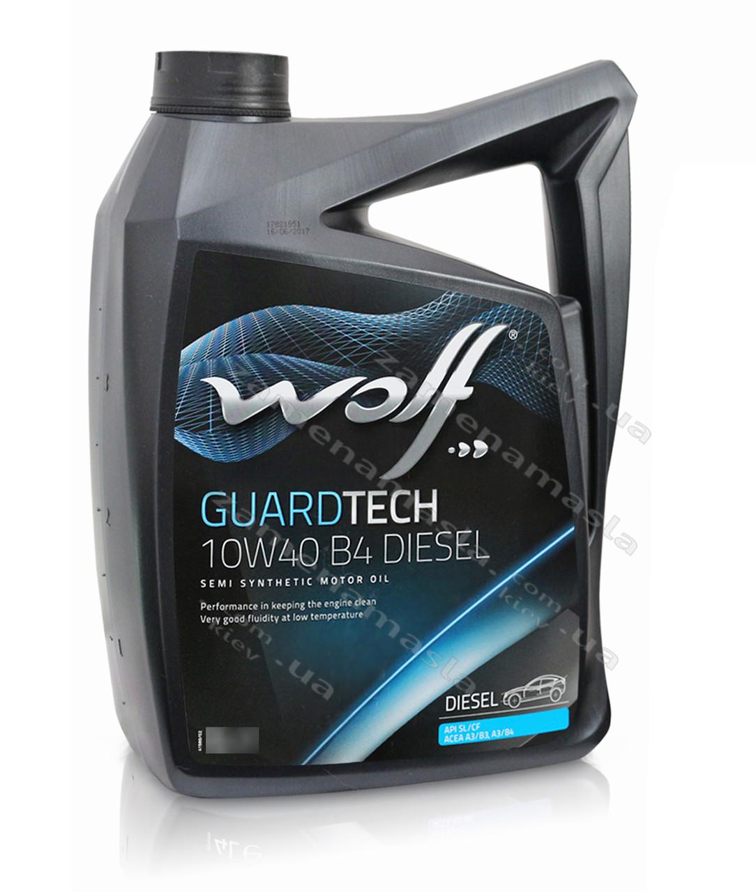Wolf GUARDTECH 10W40 B4 DIESEL 5л - моторное масло