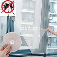 Антимоскитная сетка для окон с самоклеящейся крепежной лентой 150х150 см. (белая)