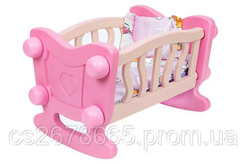 Кровать для куклы ТехноК 4180 с постельным комплектом