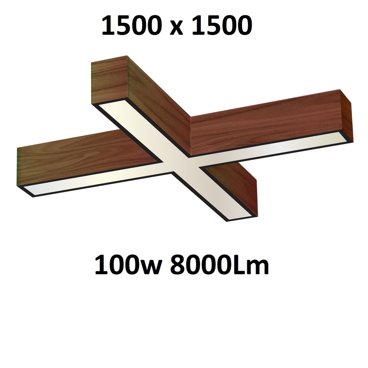 """Turman """"Кросс 1500"""" 100W 8000Lm фигурный светодиодный светильник"""