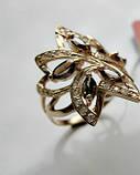 Золотое кольцо с РАУХТОПАЗАМИ 4.21 грамма 18  размер ЗОЛОТО 585 пробы, фото 5
