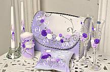 Свадебный набор аксессуаров в Фиолетовом стиле, 7 предметов